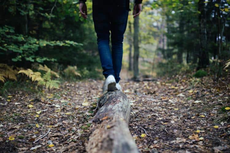 Person im Wald