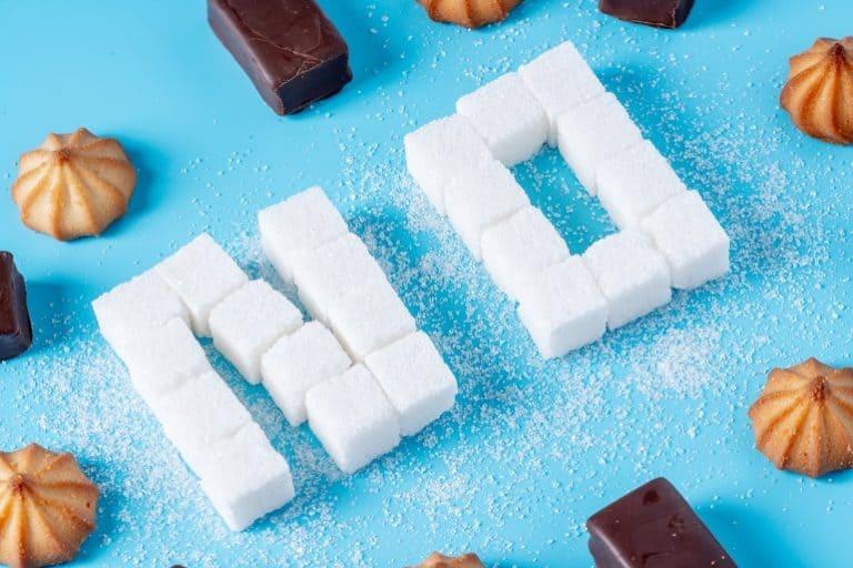 Zuckerwürfel formen das Wort No