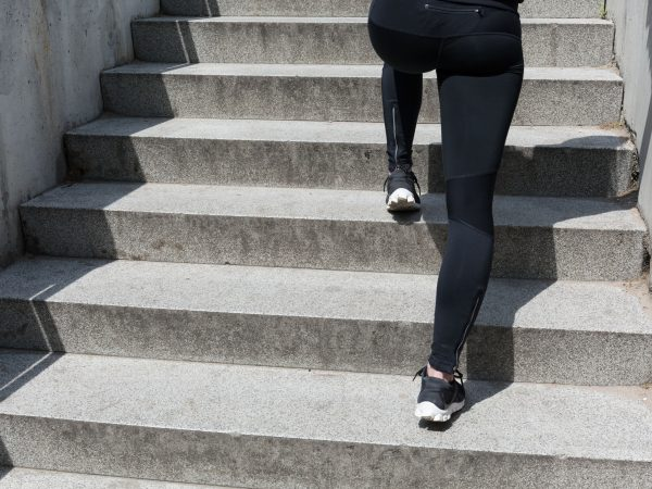 Coming up stairs is good exercise for thighs