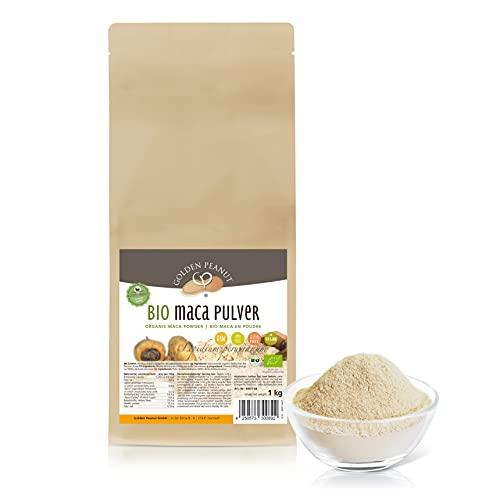 Bio Maca Pulver 1 kg   Echte Macawurzel, gemahlen   Premiumqualität   Powerwurzel  ohne Zusätze   glutenfrei   vegan   Golden Peanut