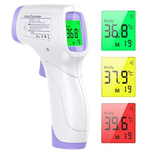 Fieberthermometer Kontaktlos KKmier Infrarotes Medizinisches Stirnfieberthermometer Digitales Temperaturmessgerät Genaue Messung für Kinder und Erwachsene