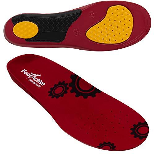 FootActive WORKMATE - Ideal für Alltag und Beruf - Schützt Ihre Füße auf harten Oberflächen, Rot, 44 - 46 (Large)