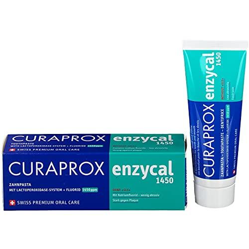 4x Curaprox enzycal Zahncreme 1450ppm Fluorid 75ml Tube (4x 75ml)