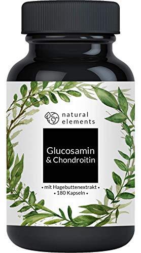 Glucosamin & Chondroitin hochdosiert - 180 Kapseln - Laborgeprüft, hochdosiert