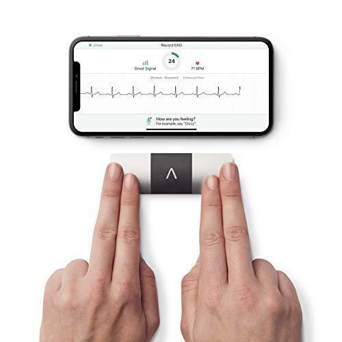 AliveCor KardiaMobile 6L - Smartphone-kompatibles mobiles EKG-System mit 6 Kanälen - erkennt Vorhofflimmern in nur 30 Sekunden - egal wann und wo