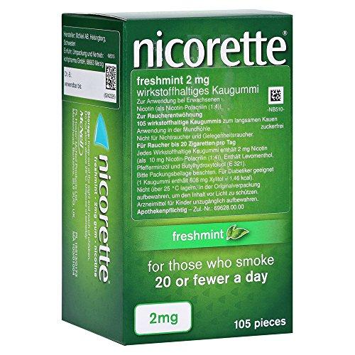nicorette Kaugummi freshmint 2 mg Reimport Kohlpharma, 105 St. Kaugummi