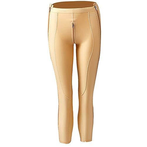 MOXIN Damen Abnehmen Hosen, Miederpants Niedrige Taille Postoperative Shaping-Hose Hüftlift Bauch Weg Formender,Flesh,XXL