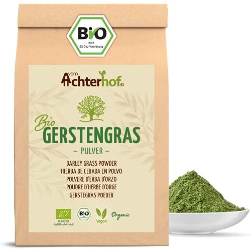 Gerstengras Pulver BIO (1kg)   Aus deutschem Anbau   Rohkostqualität   100% Gerstengraspulver   Rückstandskontrolliert   vom-Achterhof