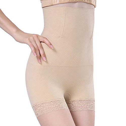 SURE YOU LIKE Damen Figurenformend Miederpants Miederhose Shapewear Bauch-Weg-Effekt Formt Sofort Body Shaper, Beige, XL/XXL, 40-44