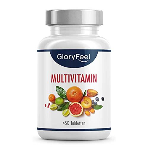 Multivitamin Hochdosiert - 450 Tabletten (15 Monate) - Alle Wertvollen A-Z Vitamine und Mineralstoffe - Unterstützt das Immunsystem** - Laborgeprüft ohne Zusätze in Deutschland hergestellt