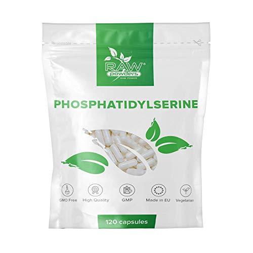 RP Phosphatidylserin 100mg Tabletten   120 Kapseln   Fur Konzentration Und Gedächtnis   Vegan, Ohne GVO, Gluten & Milch   Hergestellt ISO-zertifizierten Betrieben in GB