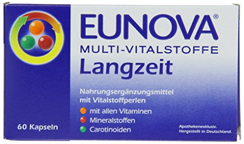 Eunova Multi-Vitalstoffe Langzeit 60 Kapseln, 1er Pack (1 x 43 g)