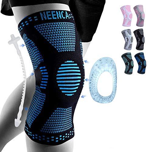 NEENCA Kniestütze,Komprimierte Kniebandage für Männer Frauen mit Patella Gel Pads & Seitenstabilisatoren,Medizinischer Knieschützer für Laufen, Meniskusriss,ACL,Arthritis,Gelenkschmerzlinderung